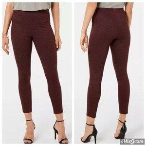 HUE Leggings Size Large Burgundy Tweed High Waist